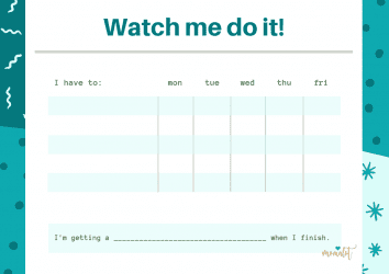 Chore Chart to help your kiddos stay on target with tasks around the home.